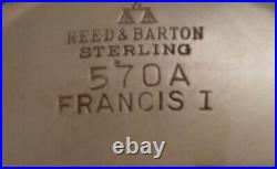 Reed & Barton Francis I Sterling Gravy Boat And Under Tray Old Hallmarks