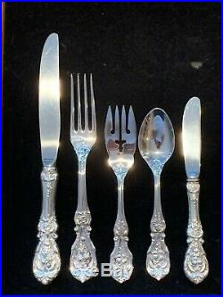 Reed & Barton Francis I Sterling Silver Flatware For 8 with 5 pieces per