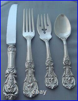Reed & Barton Francis I Sterling Silver Four (4) Piece Setting Old Hallmarks
