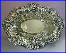 Reed & Barton Francis I Sterling Silver Oval Serving Bowl Fruit & Leaves X566