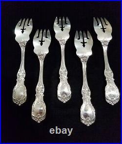 Reed & Barton Francis I Sterling Silver Salad Forks No Monogram 5 Pcs