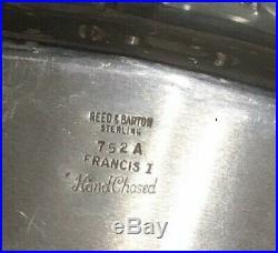 Reed & Barton Francis I Sterling Tray For Tea Coffee Set 162 Triy Oz