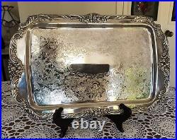 Reed & Barton -King Francis -1646-silver plated-Rectangular Service Tray 19x12