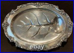 Reed & Barton King Francis Silverplate 1674 Medium Footed Meat Platter 19 1/4L