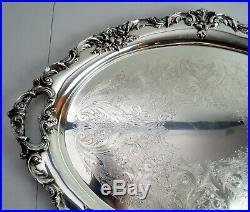 Reed & Barton King Francis Silverplate Huge Waiter Tray, 30 x 21x 2 High