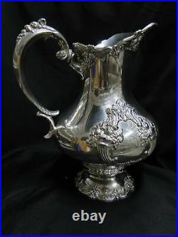 Reed & Barton King Francis, Silverplate Water Pitcher #1658, 10 Tall