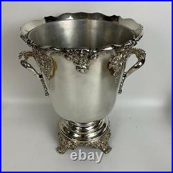 Reed Barton King Francis Wine Bottle Cooler Silver Plate 1685