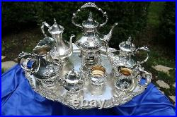 Reed & Barton Silverplate King Francis 8 Piece Tea/Coffee Set+8 Goblets & Extras