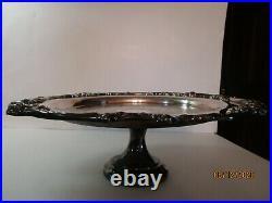 Reed & Barton Silverplate King Francis Pedestal Tray/Cake Stand #1689 15 RARE