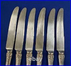 Reed & Barton Sterling Francis I First 1st Knife 9 Monogram Set of 6