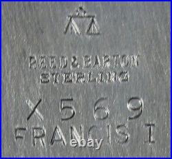 Reed & Barton Sterling Silver Francis I Bon Bon Dish