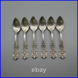 Reed & Barton Sterling Silver Francis I Fruit Spoons Set of Six