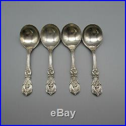 Reed & Barton Sterling Silver Francis I Round Soup Spoons Set of Four