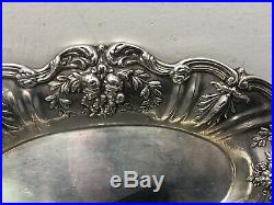 Reed & Barton Sterling Silver X568 Francis I Oval Bread Tray 11.75 448.5g