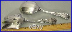 Reed & Barton sterling FRANCIS I SALAD SET 2p serving spoon fork 290g old mark