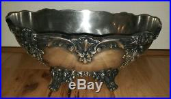 Reed and Barton King Francis Silver-plate Footed feet Fruit Bowl Sinatra 1684
