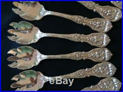 Set Of 12 Reed & Barton Francis I Sterling Silver Ice Cream Fork Original 5 1/8