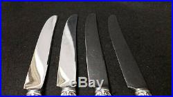 Set of 4 Reed & Barton Francis 1st Sterling Silver Diner Knives Mono 9 5/8