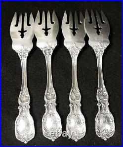 Set of 4 Reed & Barton Francis 1st Sterling Silver Salad Forks 6 1/8 Mono