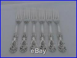 Set of 6 Reed & Barton Sterling Silver Francis I Huge Dinner Forks PS-24