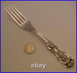 Sterling Silver Francis I Reed & Barton Dinner Fork 7 7/8 OLD MARKS CRISP