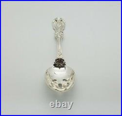Sterling Silver Francis I Reed and Barton Pierced Serving Tablespoon 8 1/4 in