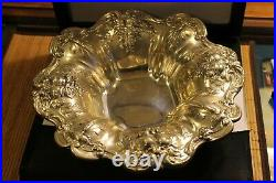 Sterling Silver Round Fruit Bowl Candy Serving Plate Reed Barton Francis 1 569