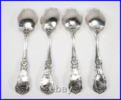 Vintage 4pc 1950 Reed & Barton Francis I Sterling Silver Ice Cream Forks No Mono