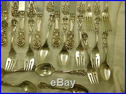 Vintage Reed & Barton Francis I Sterling Silver Silverware 28 Pieces 1,586 Grams