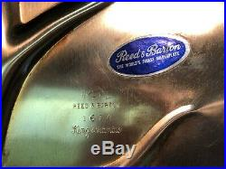 Vintage Reed & Barton silver-plated footed oval meat platter, KING FRANCIS #1674