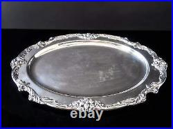 Vintage Silver Plate Oval Serving Tray Meat Platter King Francis Reed And Barton