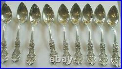 Vintage Sterling Silver Reed & Barton Francis I Grapefruit Spoons 265 Grams