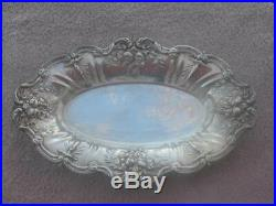 Vintage Sterling Silver Reed & Barton Francis I X568 Oval Bread Tray Great Condi