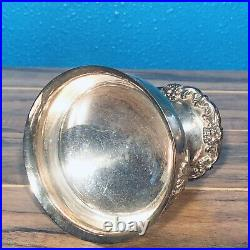 Vtg Reed & Barton Silverplate Chalice Cup Goblet King Francis Champagne Patina